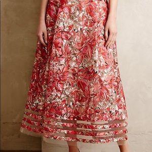 Anthropologie Strawberry Hill Skirt